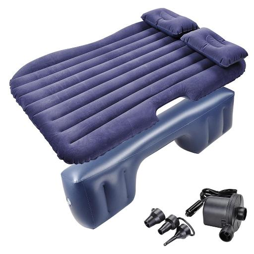 Yescom Inflatable Mattress Car Air Bed Travel Camping Backseat Cushion w/ Pillow Pump