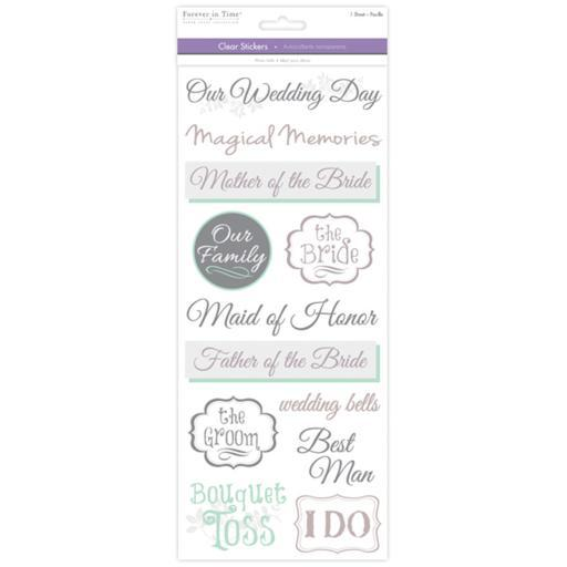 Multicraft Love & Marriage Clear Stickers-Wedding 2 SNDS0PCKYXQEVWAW