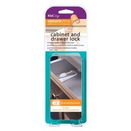Kidco s331 white kidco adhesive mount cabinet and drawer lock 1 pack white