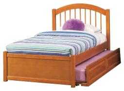 Windsor Full Flat Panel Foodboard with Raised Panel Trundle Bed in Caramel Latte AP9432017