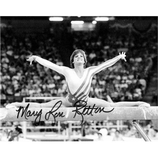 Autograph Warehouse 432828 8 x 10 in. United States Olympic Team 1984 Gold Medal Gymnastics No. 6 Mary Lou Retton Autographed Photo