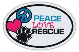 Peace Love Rescue Magnet Dog 4