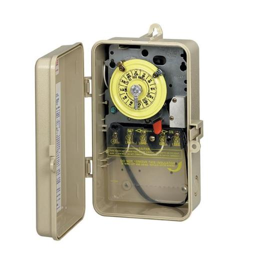 Intermatic T101P201 Time Switch in Plastic Enclosure with Pool Heater Protection