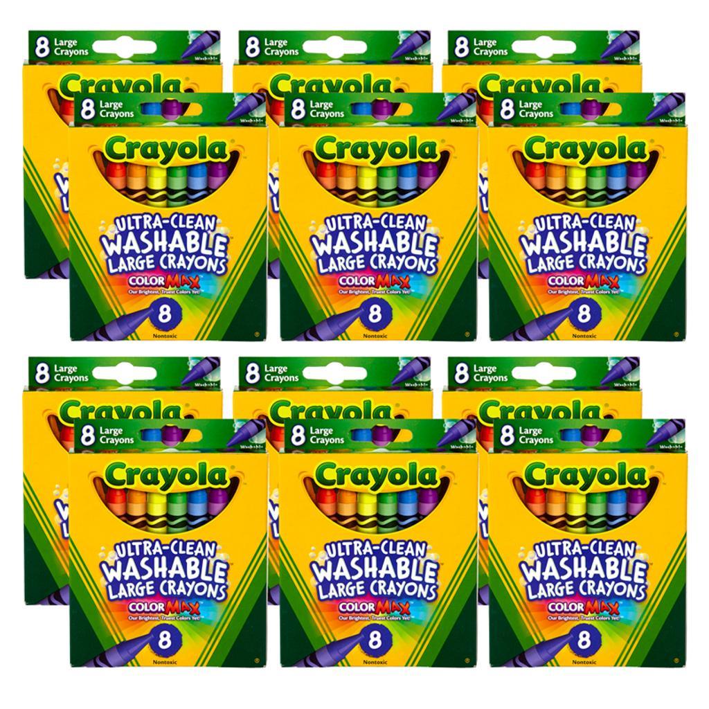 Crayola llc 12 bx washable crayons large 8ct 3280bn
