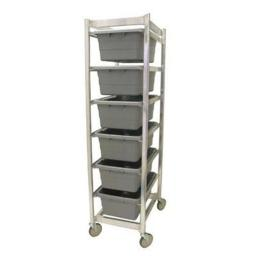 6 Lug Knock Down Aluminum Carts, 70.5 x 20 x 27 in.