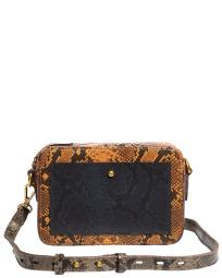 Madewell The Transport Snake-Embossed Leather Camera Bag