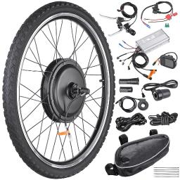 """26""""x1.75"""" Front Wheel Electric Bicycle Motor Kit 48V 1000W Powerful Motor E-Bike Conversion w/ LCD Display"""