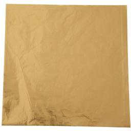 "Foil Candy Wrappers Gold 50/Pkg 4""X4"