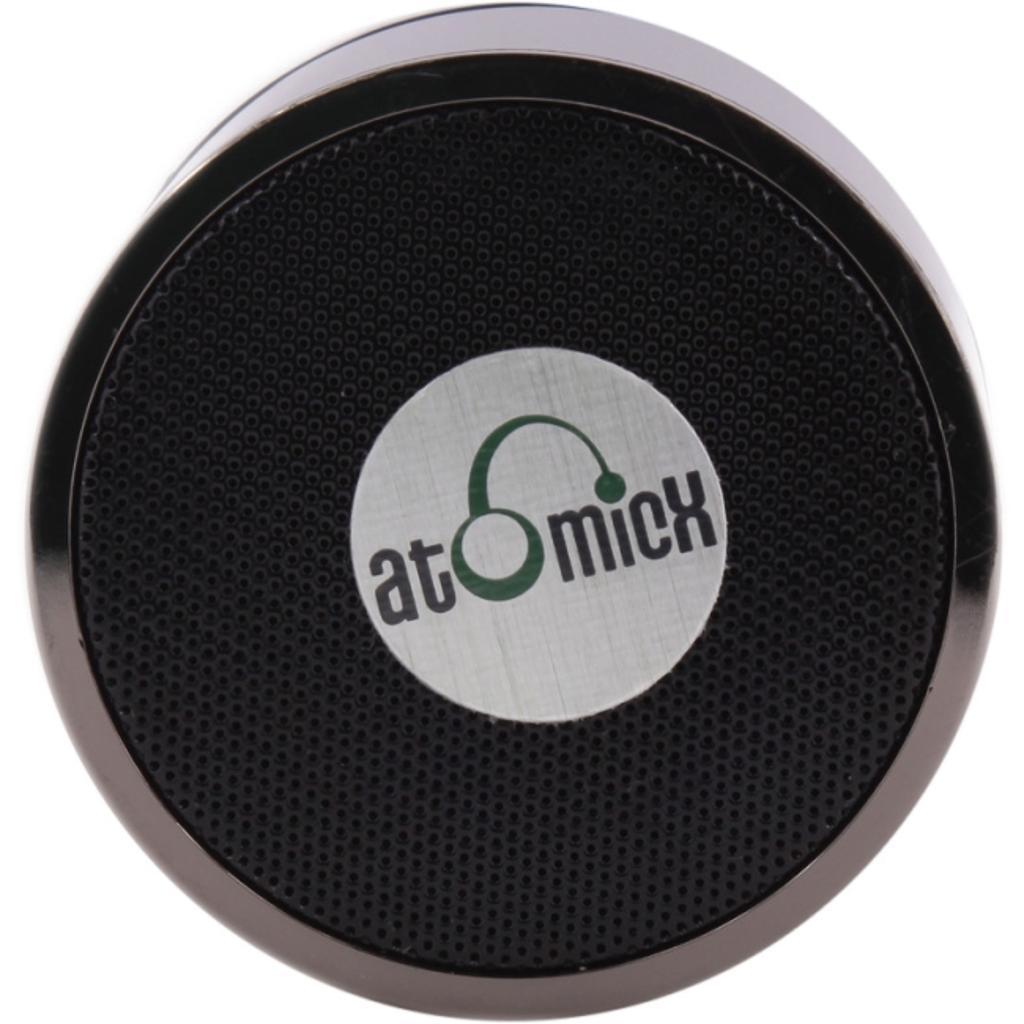 AtomicX SP-S10B Speaker System - Wireless Speaker(s) - Portable - Battery Rechargeable - Black - 30