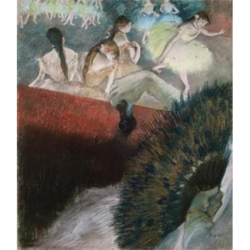 Posterazzi SAL900136211 In the Theatre Edgar Degas 1834-1917 French Poster Print - 18 x 24 in.