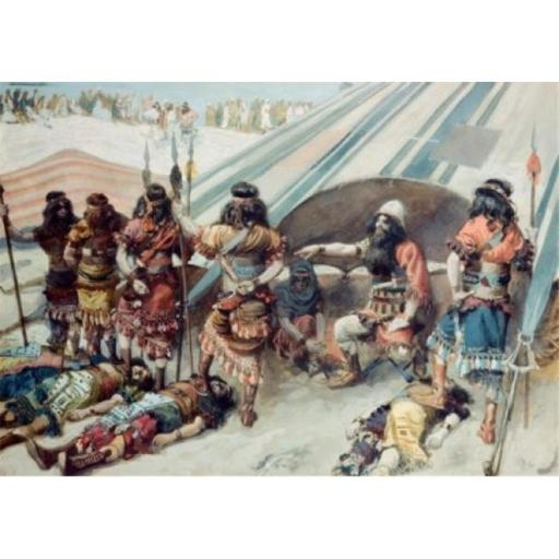Posterazzi SAL999158 Joshua & the Five Kings James Tissot 1836-1902 French Jewish Museum New York City Poster Print - 18 x 24 in.