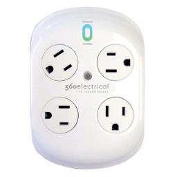 360 Electrical 36036 4-Tap Rotating Surge Protector