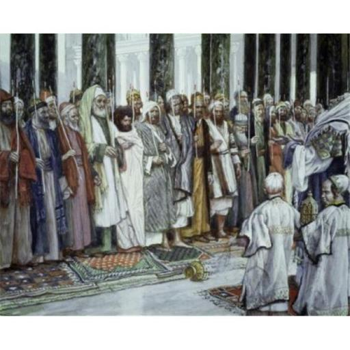 Posterazzi SAL99914 Legend of the Tests of Suitors of the Holy Virgin James Tissot 1836-1902 French Jewish Museum New York City Poster Print - 18 x 24