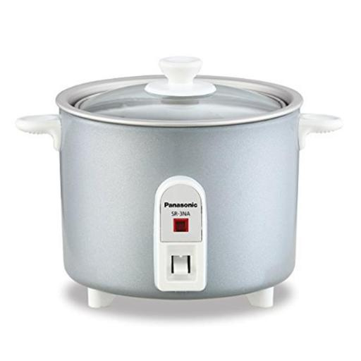 Mini-Rice Cooker, Non-Stick Pan with Glass Lid & 1.5 cup