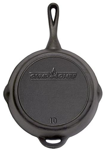 The Camp Chef Sk-10 Cast Iron Skillet 10 Inch Diameter