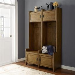 Crosley KF60004CO 2 Piece Fremont Entryway Kit - Two Towers, Coffee