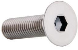Bolt Flathead Action Stainless 5x16mm 20pc