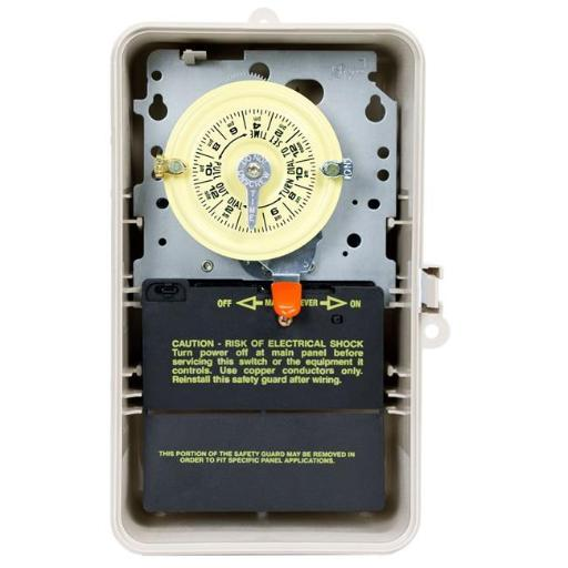 Intermatic T104P3 208 - 277V DPST 24 Hour Mechanical Time Switch in Enclosure