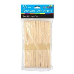 Natural Craft Sticks - 50 Count