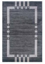 Linon Rugs Milan Grey/Black Rug 5' x 7'7""