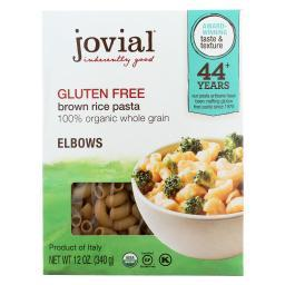 Jovial Gluten Free Brown Rice Pasta - Elbow - Case of 12 - 12 oz.
