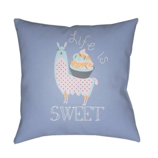Surya LI026-2222 Littles 22 x 22 x 5 in. Throw Pillow, Grey - Large