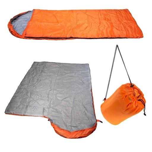 2 Moda 1Kg Lightweight Sleeping Bag - Orange(Pack Of 10)