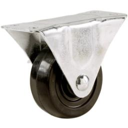 Shepherd Hardware 9481 2 in. Rubber Wheel Rigid Plate Caster