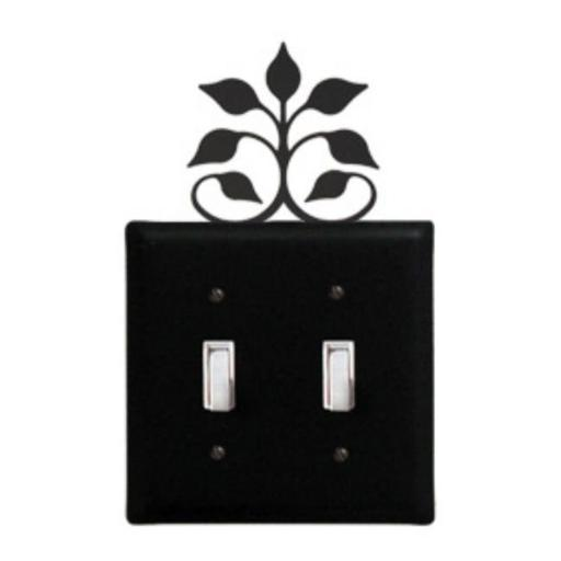 Village Wrought Iron ESS-109 Leaf Fan Switch Cover Double