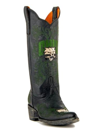 Gameday Boots Womens College Team Ohio Bobcats Black Green OHI-L043-1 1348456