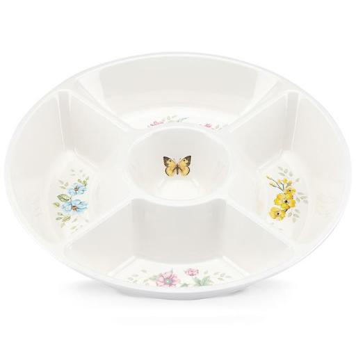 Lenox 855604 Butterfly Meadow Melamine Dinnerware 5 Part Server Plate - 5 mm