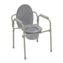 Fabrication Enterprises 43-2330 Steel Commode with Fixed Arms, Adjustable Height