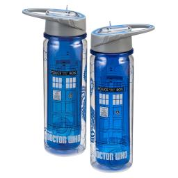 Doctor Who TARDIS Tritan Water Bottle Travel Acrylic Dr 18 oz BBC TV Show