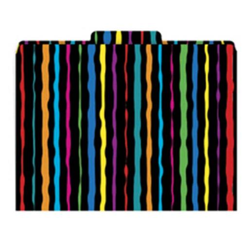BARKER CREEK & LASTING LESSONS LAS1315F FILE FOLDERS NEON STRIPES FUNCTIONAL FILE FOLDERS