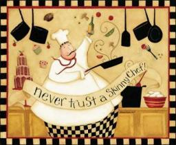 Skinny Chef Poster Print by Dan DiPaolo PDXDDPRC353SMALL