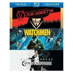 V for vendetta/watchmen/constatine (blu-ray/tfe/4 disc) BR260738
