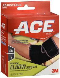 Ace Neoprene Elbow Support, Moderate Support - One Size Fits All, Pack of 4