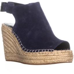 Kenneth Cole Olivia Espadrille Mule Sandals, Navy Olivia