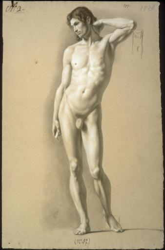 Male Nude Standing Poster Print JNPTTVLYX2OLYXIT