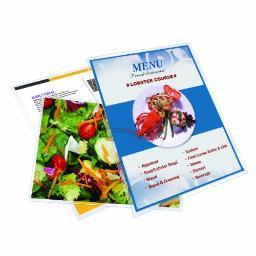 Royal sovereign international rf05menu0100 100pk menu size laminating film