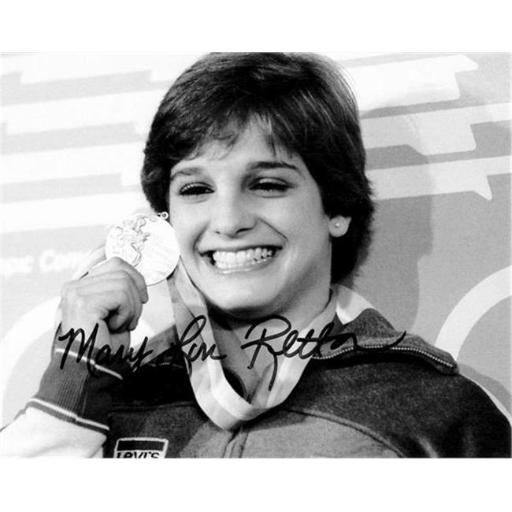 Autograph Warehouse 432829 8 x 10 in. United States Olympic Team 1984 Gold Medal Gymnastics No. 7 Mary Lou Retton Autographed Photo