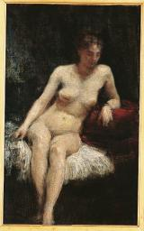 Study Of A Female Nude Poster Print EVCMOND025VJ746H