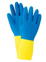 Soft Scrub Latex Cleaning Gloves M Blue 1 pair - Case Of: 1; Each Pack Qty: 2; Total Items Qty: 2