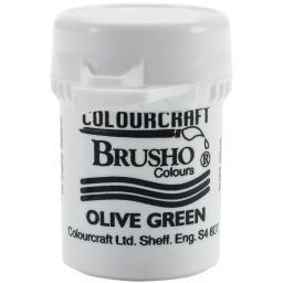 Brusho Crystal Colour 15g Olive Green