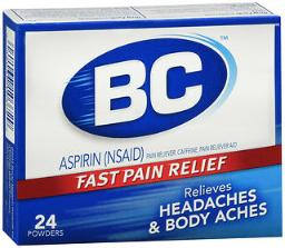 Bc Headaches Formula Pain Reliever Powders - 24ct, Pack Of 4