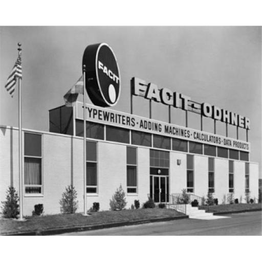 Posterazzi SAL25550111 Facade of an Office Equipment Store Poster Print - 18 x 24 in.