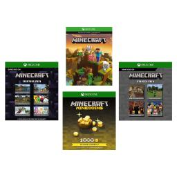 Xbox One Minecraft Full Game, 1K Minecoins, Starter & Creators Pack Game Add-On
