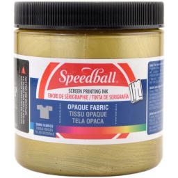 Opaque Fabric Screen Printing Ink 8 Ounces Gold