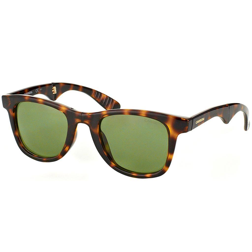 8dc6379fd0 Carrera Folding CA 6000 FD 27E DJ 50 Havana Plastic Square Sunglasses Green  Lens