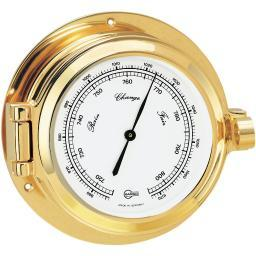 "Barigo Barometer 3.3"" Dial Brass Housing"